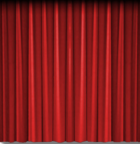 Red theatre curtain, right side